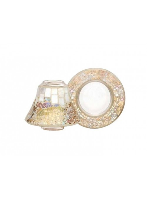 """Yanke Candle Set Paralume """"Gold & Pearl"""""""
