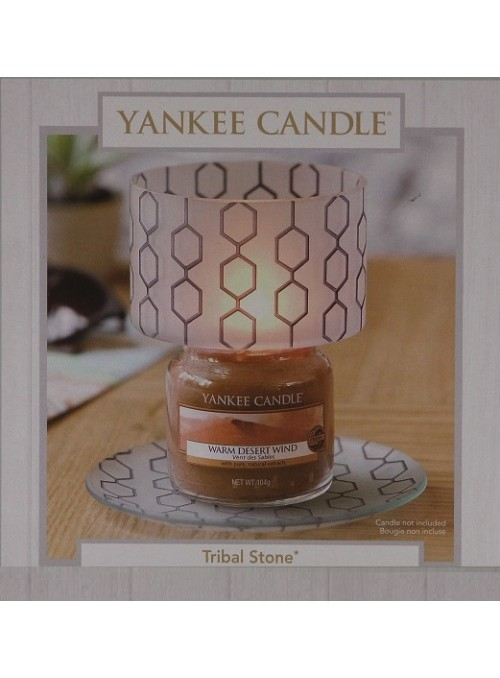 "Yankee Candle Set Paralume ""Tribal Stone"""