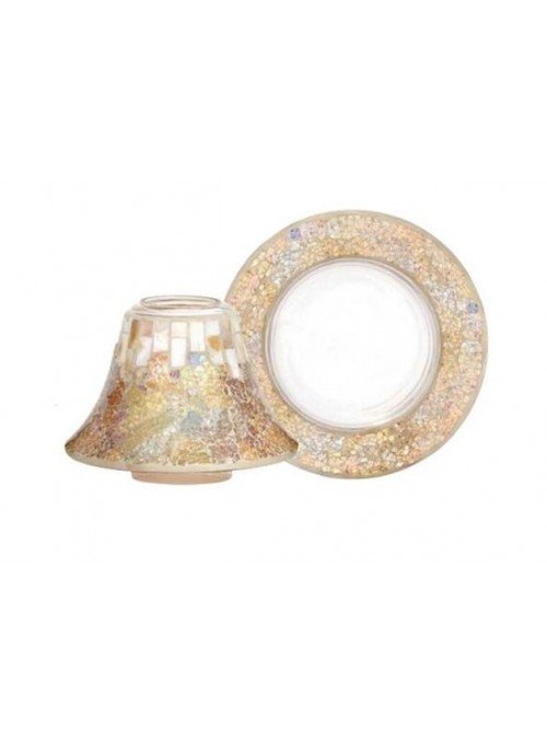 """Yankee Candle Set Paralume Grande""""gold & pearl"""""""