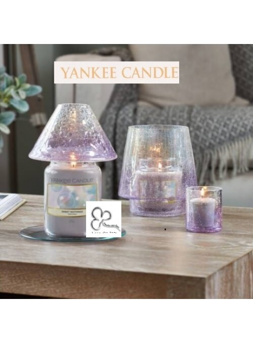 "Yankee Candle Set Paralume Grande""Savoy Crackle Glass"""