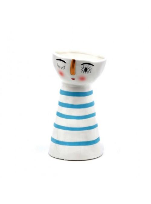 """Vaso doll righe blue """"Edg"""""""