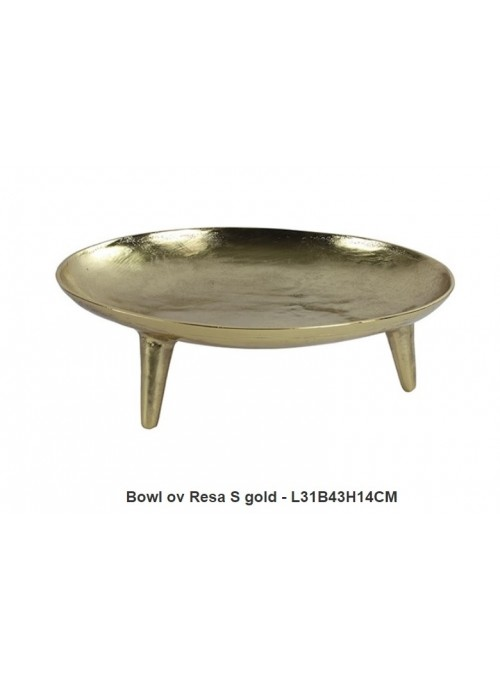 "Alzata Ovale ""resa Gold"""