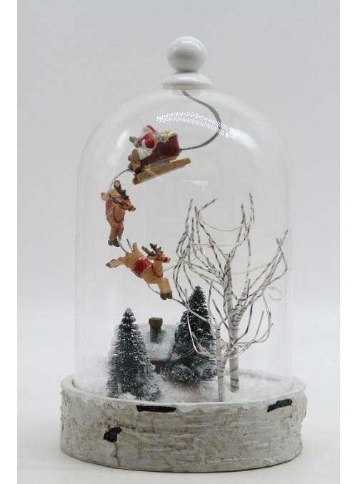 Paesaggio Invernale Slitta con Renne