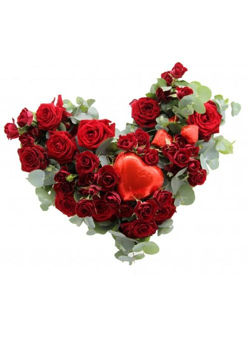 HEART ROSES LOVE