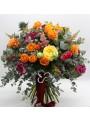 bouquet strong colour flowers - L'asso dei Fiori
