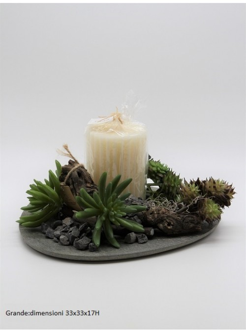 Centro Tavola Green candle