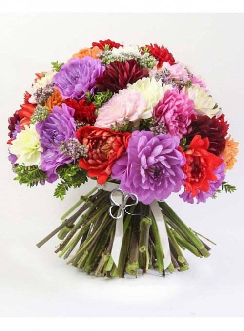 Bouquet di dalie dai colori misti