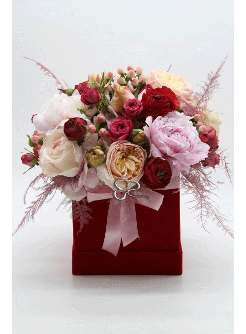 Pink & red velvet box