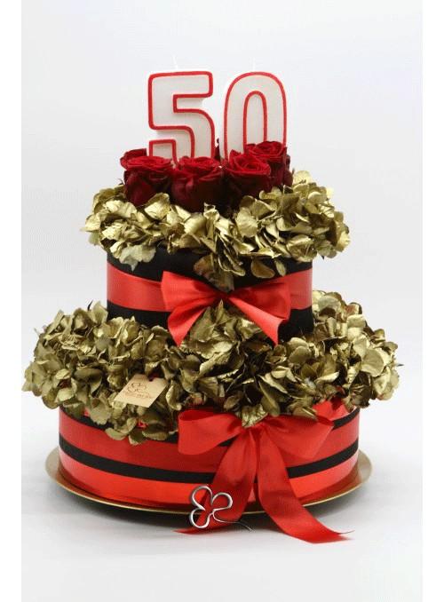 Golden cake flower