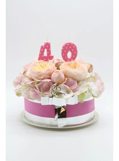 Pink Cake flowers
