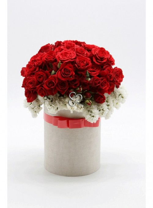 Red box roses